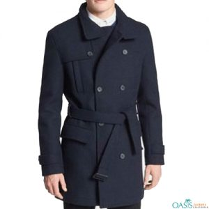 Navy Blue Style Trench Coat