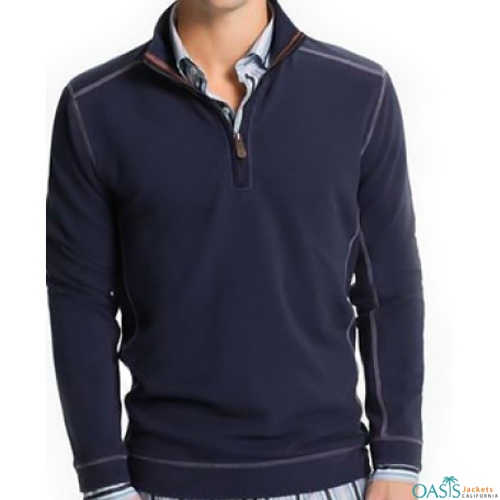 Navy blue full sleeve sweatshirt