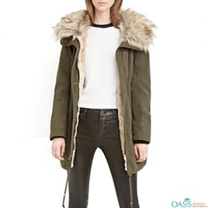 Olive Green Women's Parka Jacket