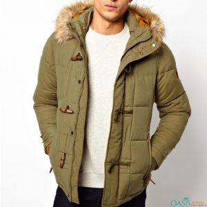 Olive Quilted Parka Jacket