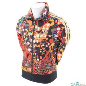Orange Bold Logo Sublimation Jacket