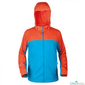 Orange and Blue Rain Jacket