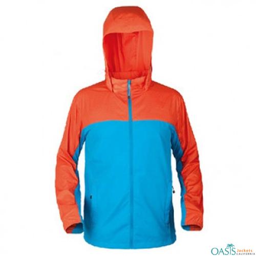 Orange and Blue Rain Jacket
