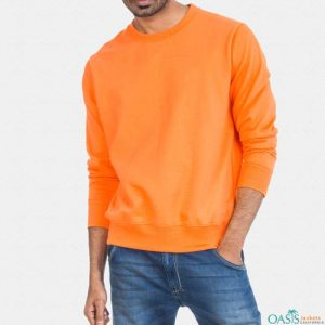 Orange full sleeve sweatshirt