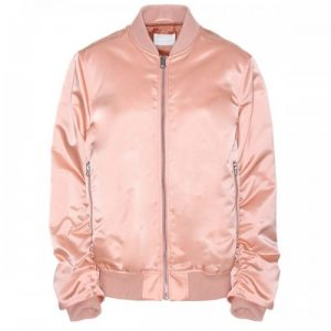 Pale Pink Satin Puffer Jacket