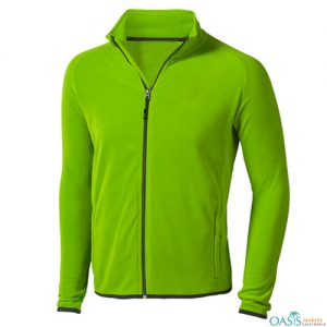 Pistachio Green Fleece Jacket Manufacturer