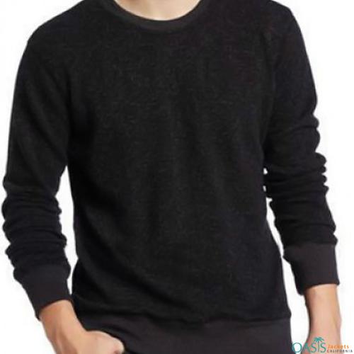 Plain black full sleeve sweatshirt
