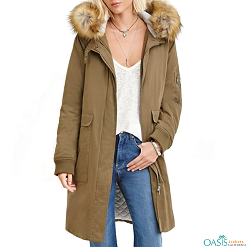 Plush Tan Parka Jacket