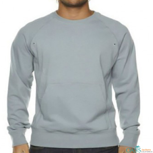 Powder blue V-neck sweatshirt
