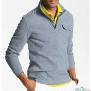 Powder blue collared sweatshirt