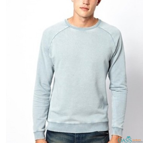 Powder blue round neck sweatshirt