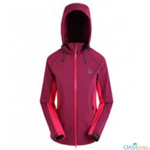 Purple Hooded Jacket for Women