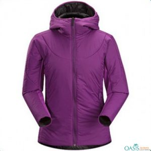 Purple Padded Jacket for Women