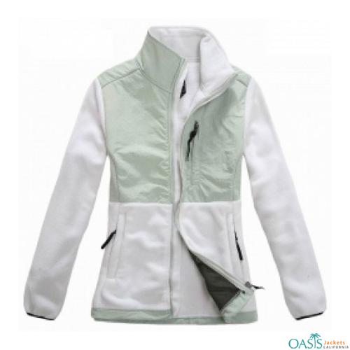 Radiant White Polar Fleece Jacket