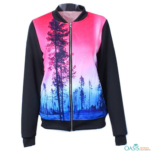 Rainbow Turtleneck Sublimated Jacket
