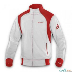 Red and White Fitness Jacket