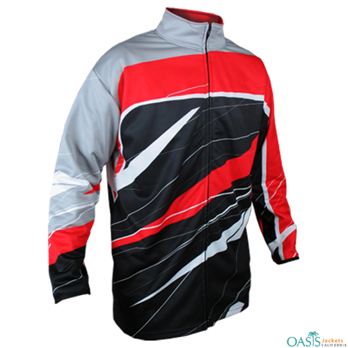 Red and White Sublimation Hoodie