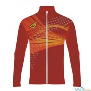 Red and Yellow Customized Sublimation Jacket