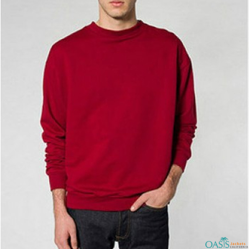 Red full sleeve sweatshirt
