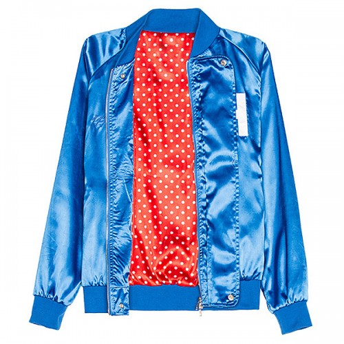 Royal Blue Baseball Satin Jacket for Men