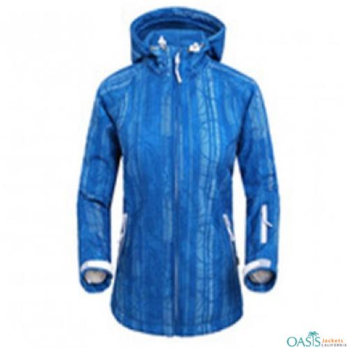 Royal Blue Self Printed Jacket