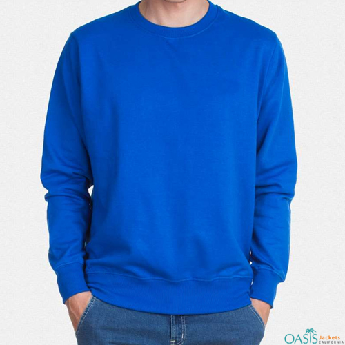 Royal blue full sleeve sweatshirt