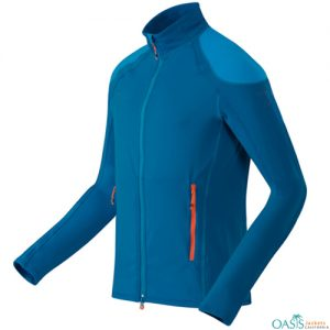 Wholesale Stylish Aqua Blue Fleece Micro Jacket