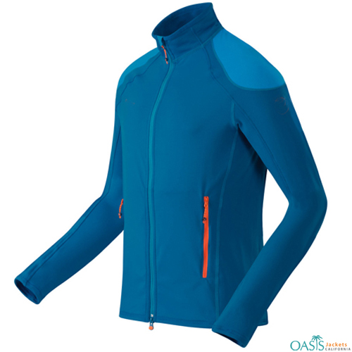 Wholesale Stylish Aqua Blue Fleece Micro Jacket