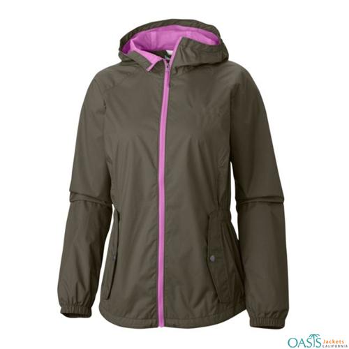Senorita Grey Lilac Rain Jacket