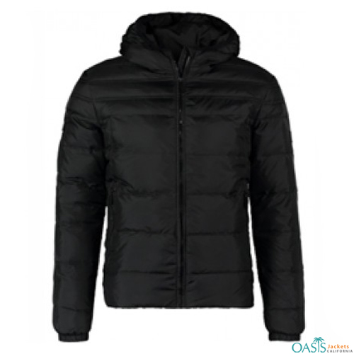 SLEEK BLACK DOWN JACKET