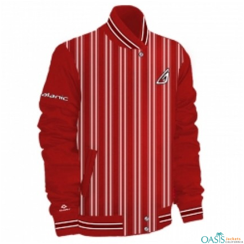 STRIPED GOLF JACKET IN RED