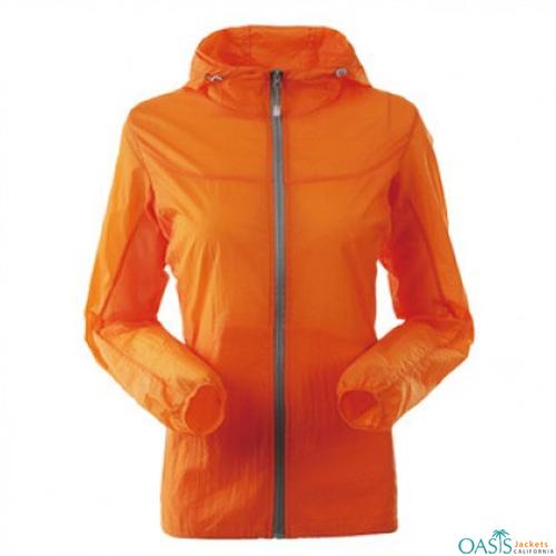 Sunset Orange Running Jacket