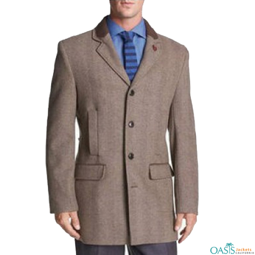 Tailored Light Brown Coat