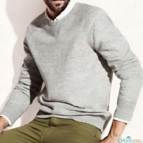 Warming grey full sleeve sweatshirt