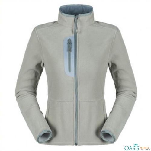 Whitish Grey Smart Fleece Jacket