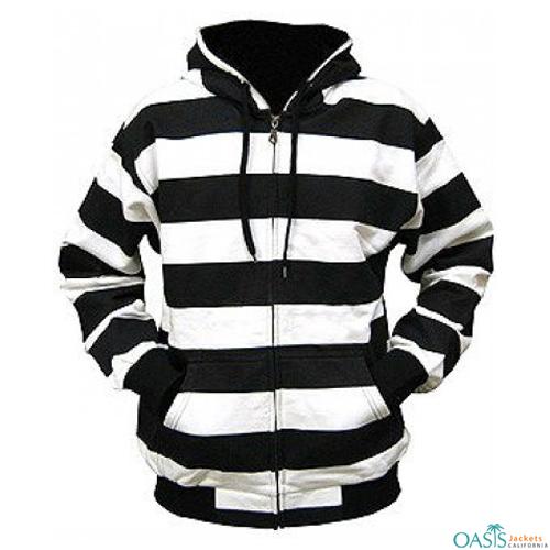 Zebra Pattern Hooded Jacket