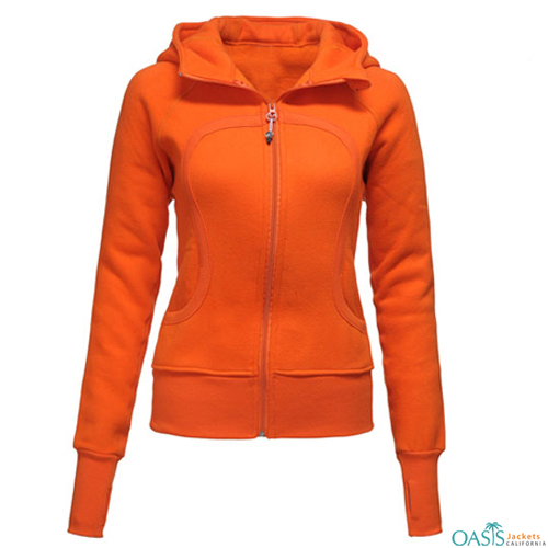 Zesty Orange Hoodie Jacket