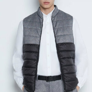Antique Grey Hooded Vest Manufacturer