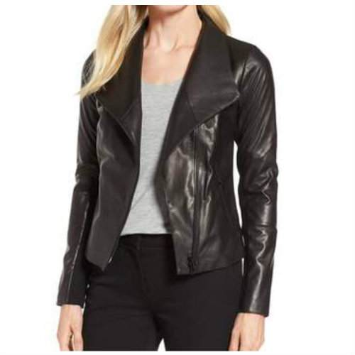 Wholesale Beautiful Black Leather Jacket