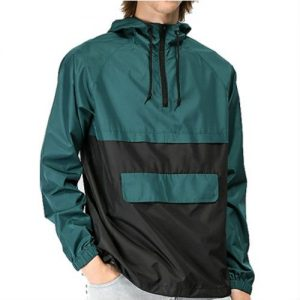 Wholesale Black and Green Windbreaker