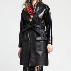 Black Comfy Trench Coat Manufacturer