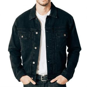 Wholesale Washed Black Denim Jacket
