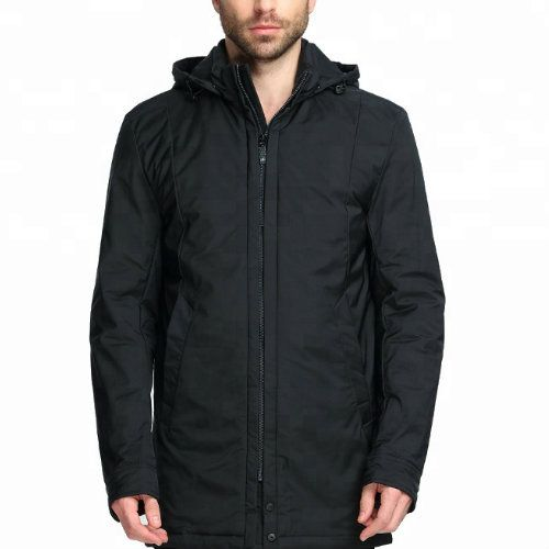 Wholesale Black Hooded Windbreaker Jacket
