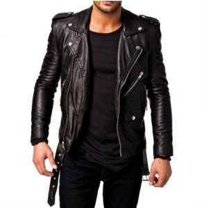 Wholesale Charming Black Leather Jacket