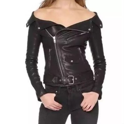 Wholesale Ravishing Black Leather Jacket