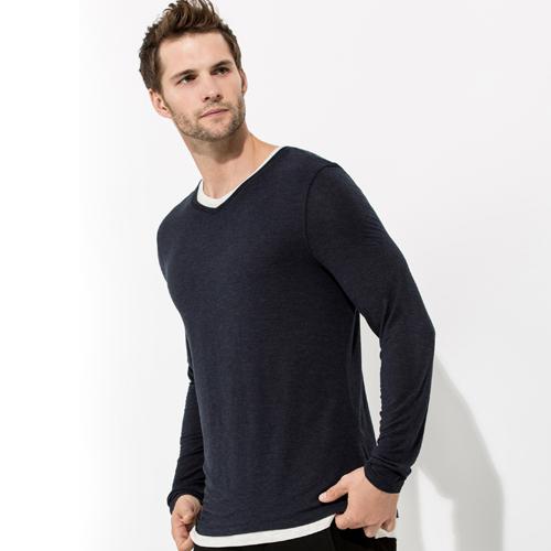 Black Long Sleeve Crewneck Sweatshirt