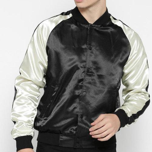 Wholesale Black Satin Jacket Manufacturer