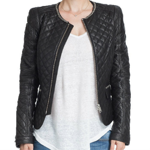 Wholesale Fitted Black Quilted Jacket