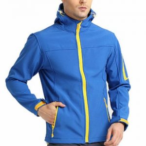 Blue Blocked Green Piped Jacket Manufacturer