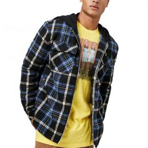 Wholesale Blue Grey Flannel Jacket